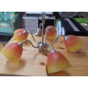 5 ágú narancs mennyezeti csillár